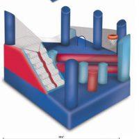 Frozen jumping castle dimensions