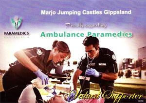 Marjo Jumping Ambulance aramedics Sponsor